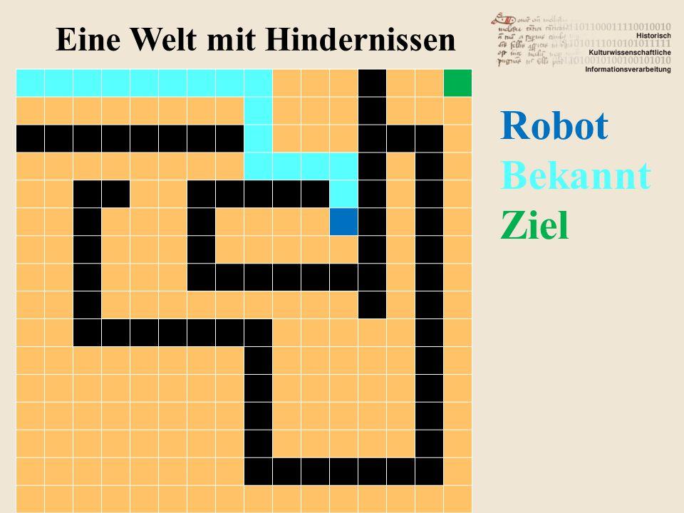 Eine Welt mit Hindernissen Robot Bekannt Ziel