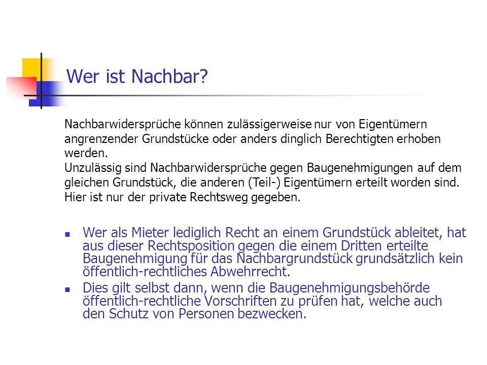 Allgemeine Anforderungen - §§ 1-3 BauO NRW Bauordnungsrechtliche Generalklausel des Nachbarschutzes Die praktische Bedeutung für den Nachbarschutz ist gering, da sie durch spezielle Vorschriften der BauO NRW verdrängt wird.