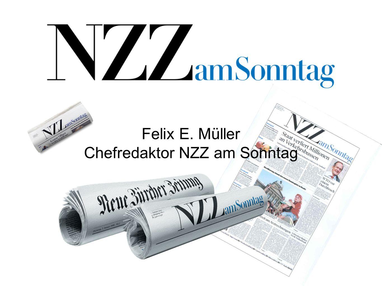 Felix E. Müller Chefredaktor NZZ am Sonntag