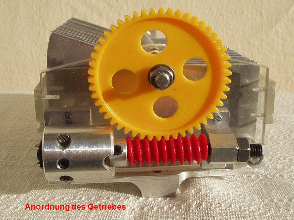 Anordnung des Getriebes