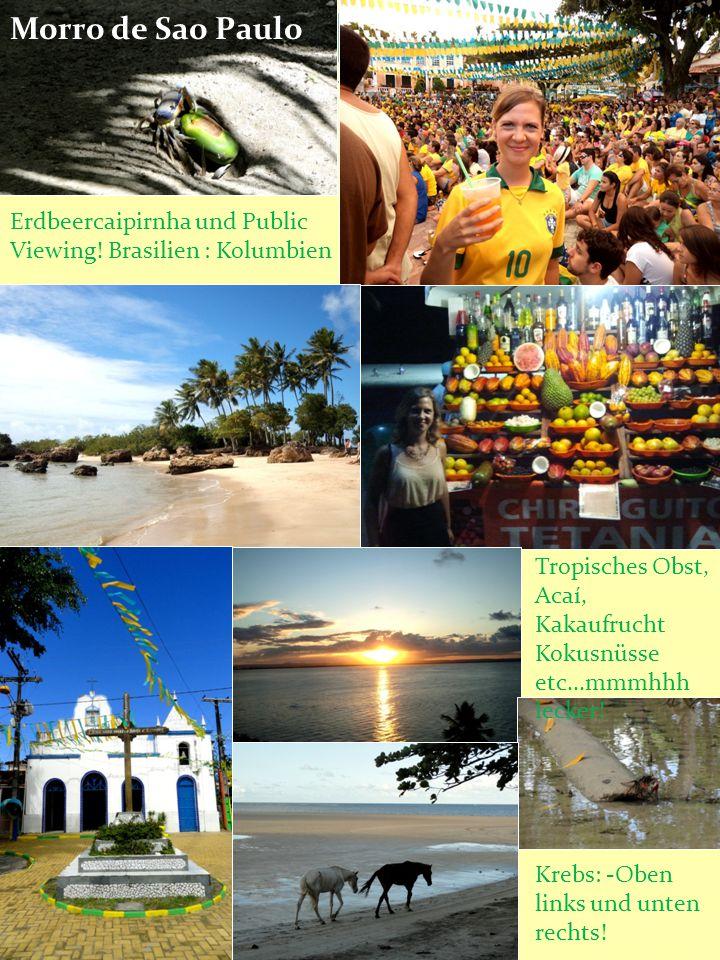 Erdbeercaipirnha und Public Viewing! Brasilien : Kolumbien Tropisches Obst, Acaí, Kakaufrucht Kokusnüsse etc...mmmhhh lecker! Krebs: -Oben links und u