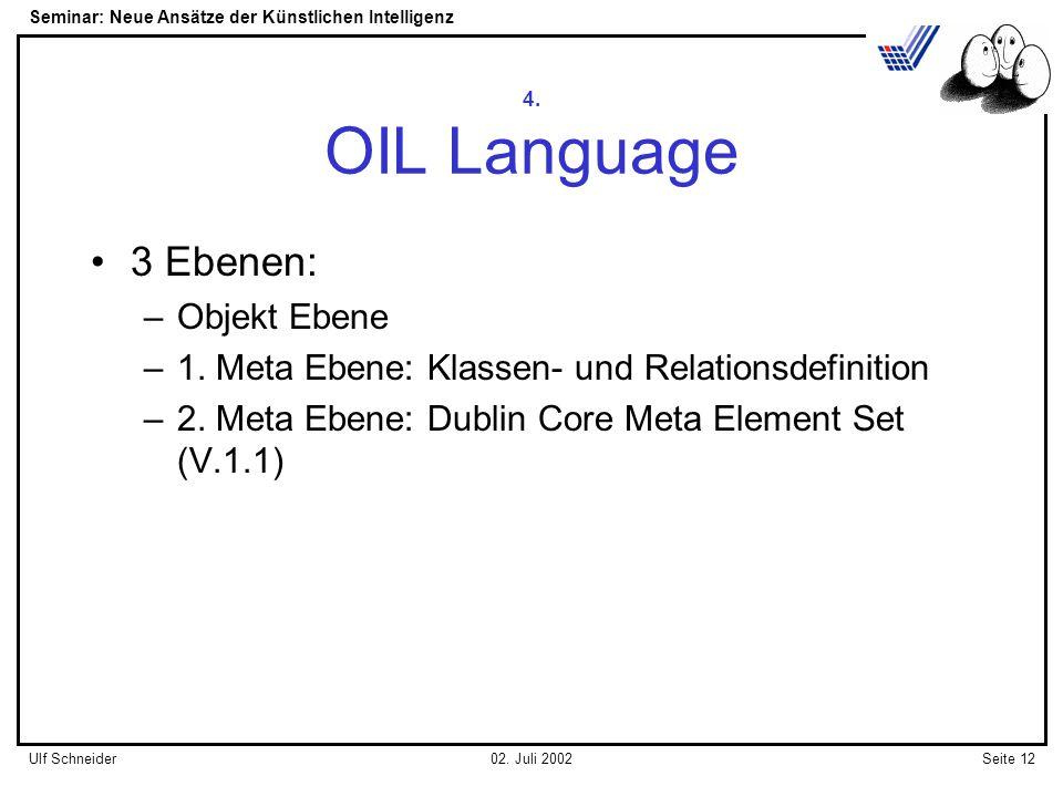 Seminar: Neue Ansätze der Künstlichen Intelligenz Seite 12Ulf Schneider02.