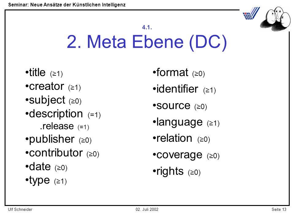Seminar: Neue Ansätze der Künstlichen Intelligenz Seite 13Ulf Schneider02.