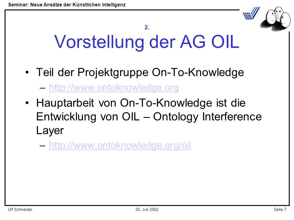 Seminar: Neue Ansätze der Künstlichen Intelligenz Seite 7Ulf Schneider02.