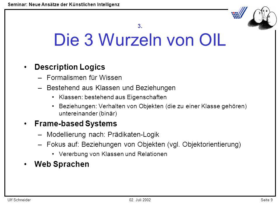 Seminar: Neue Ansätze der Künstlichen Intelligenz Seite 9Ulf Schneider02.