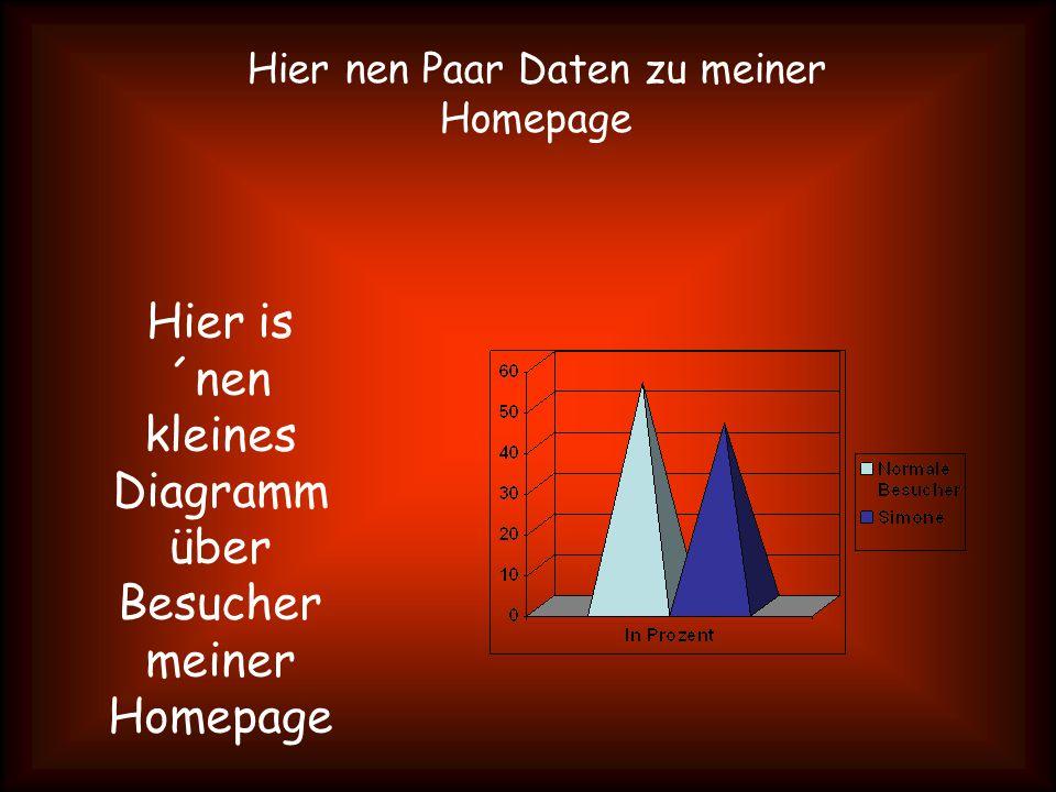 Hier nen Paar Daten zu meiner Homepage Hier is ´nen kleines Diagramm über Besucher meiner Homepage
