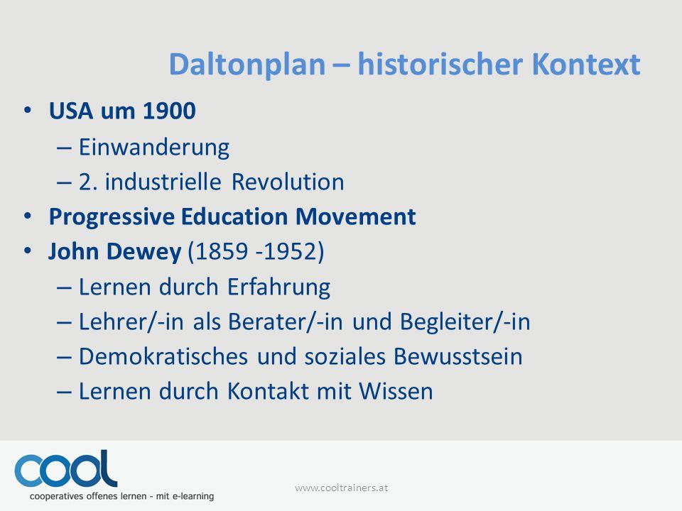 Daltonplan – historischer Kontext USA um 1900 – Einwanderung – 2.