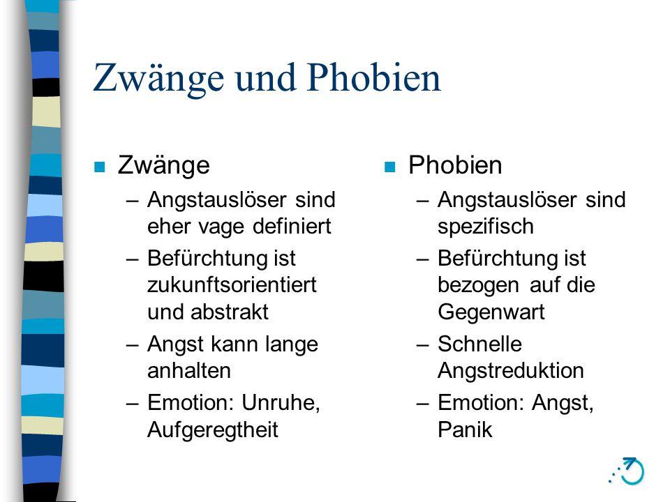 Zwänge, Phobien, Depressionen