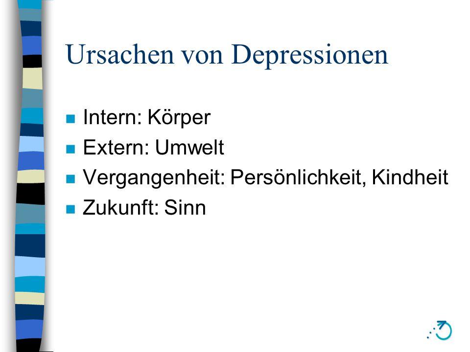 Depressionen erkennen n Merk- und Konzentrationsstörungen n geringes Selbstwertgefühl n Gedanken an den Tod, Lebensmpdigkeit