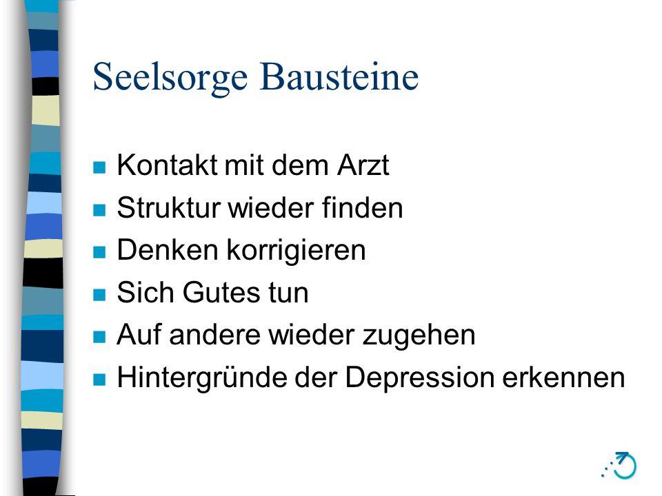 Ursachen von Depressionen n Intern: Körper n Extern: Umwelt n Vergangenheit: Persönlichkeit, Kindheit n Zukunft: Sinn