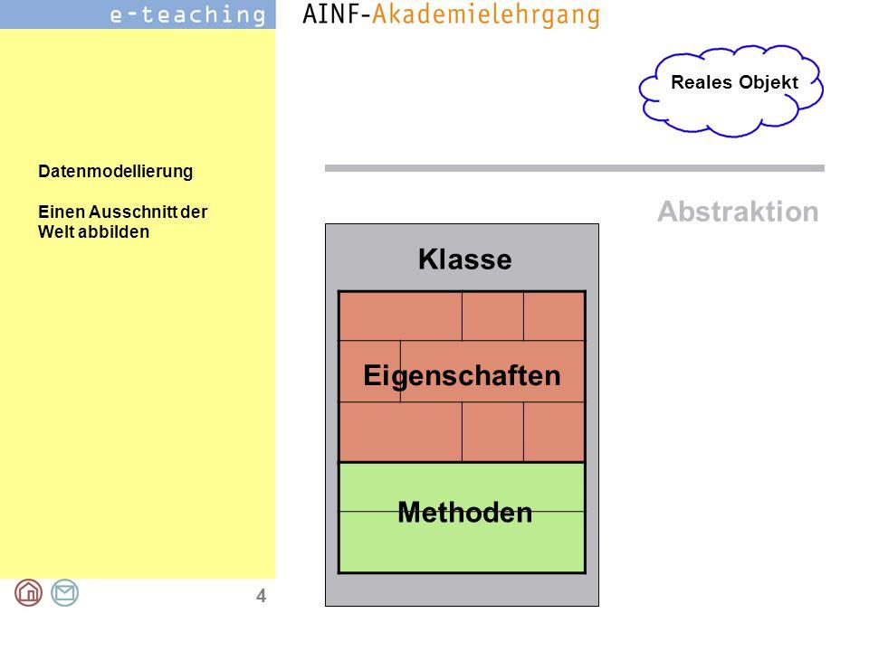 4 Reales Objekt Datenmodellierung Einen Ausschnitt der Welt abbilden Überschrift: Arial 24 Punkt fett Das ist der Fließtext, den wir für den Regelfall
