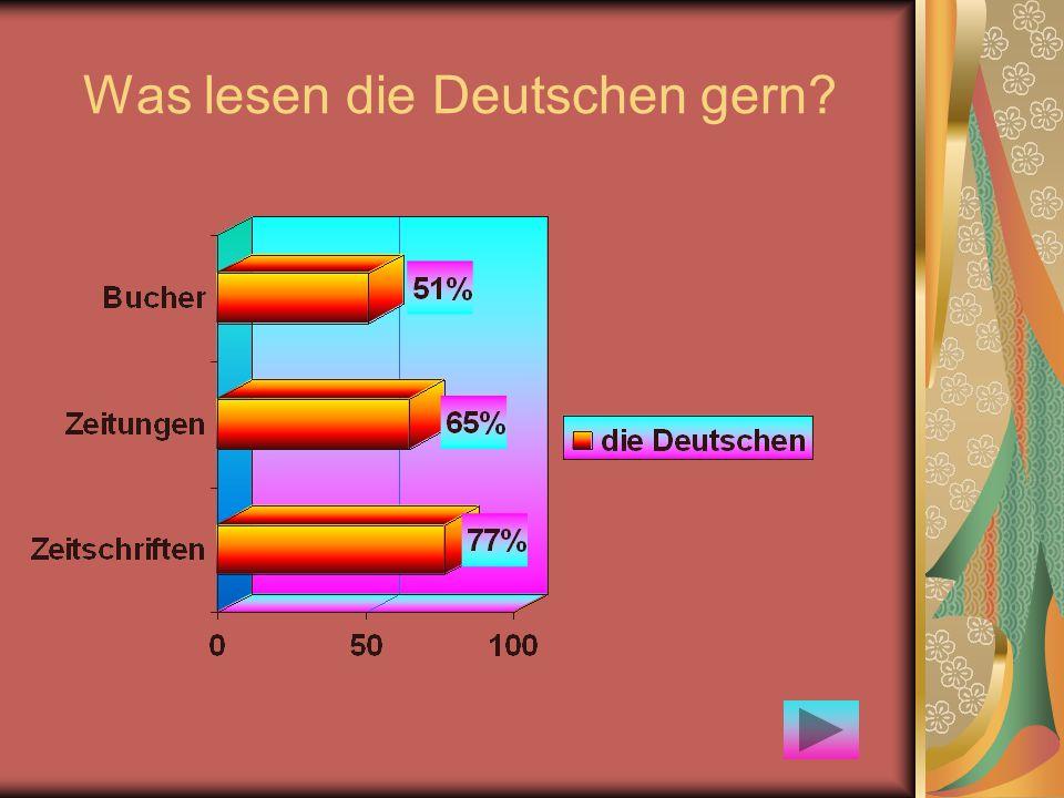 Was lesen die Deutschen gern?