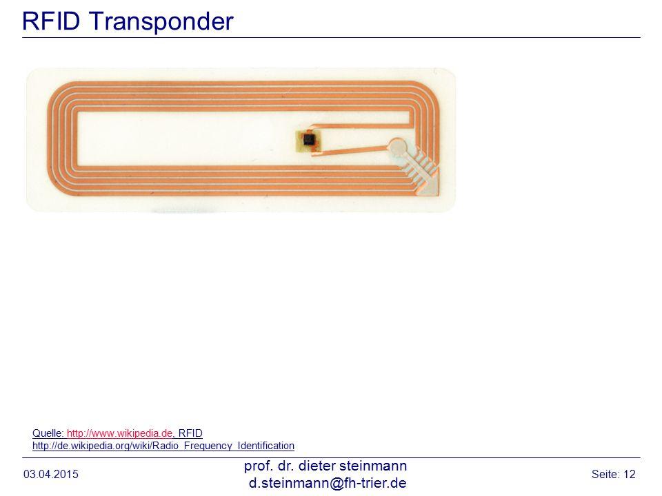 RFID Transponder 03.04.2015 prof.dr.