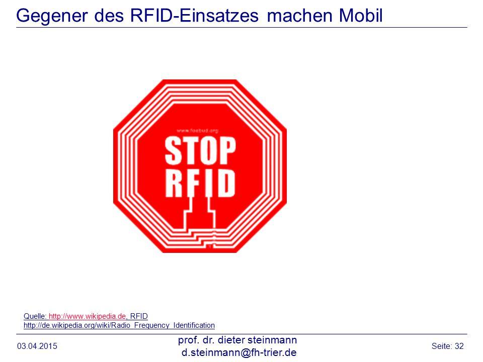 Gegener des RFID-Einsatzes machen Mobil 03.04.2015 prof.