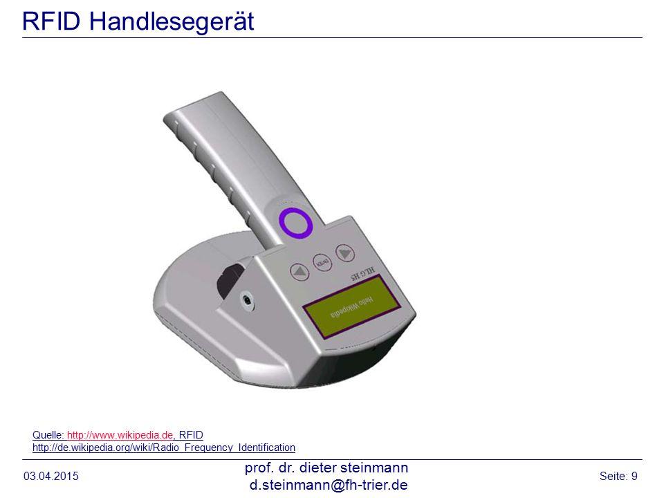 RFID Handlesegerät 03.04.2015 prof.dr.