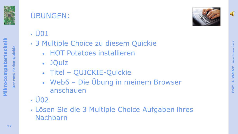 Mikrocomputertechnik Der rote Faden-Quickie Prof.J.