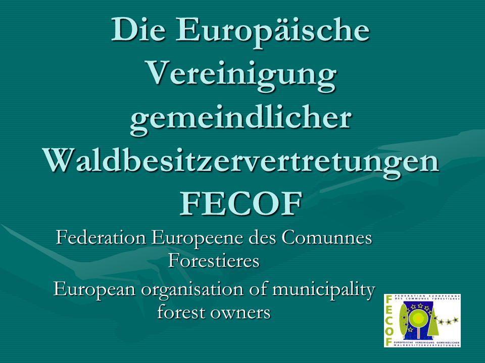 gegründet 1990 in Straßburg Gründungsmitglieder: der französische Kommunalwaldbesitzerverband FNCoFoR der Gemeinsame Forstausschuss von Deutscher Städtetag, Deutscher Städte- und Gemeindebund, Deutscher Landkreistag