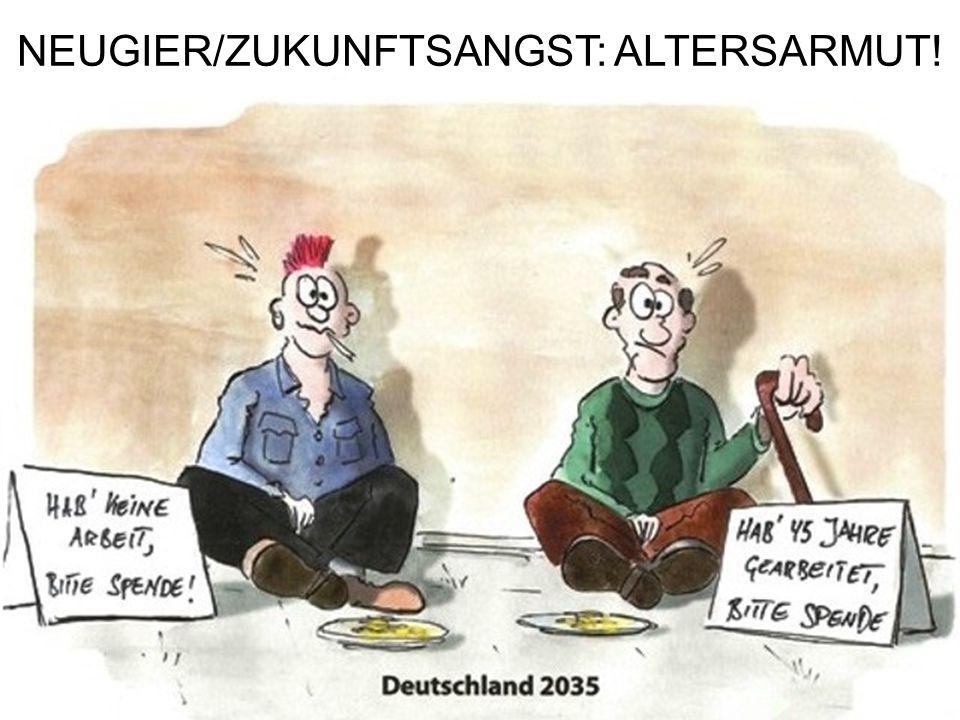 NEUGIER/ZUKUNFTSANGST: ALTERSARMUT!