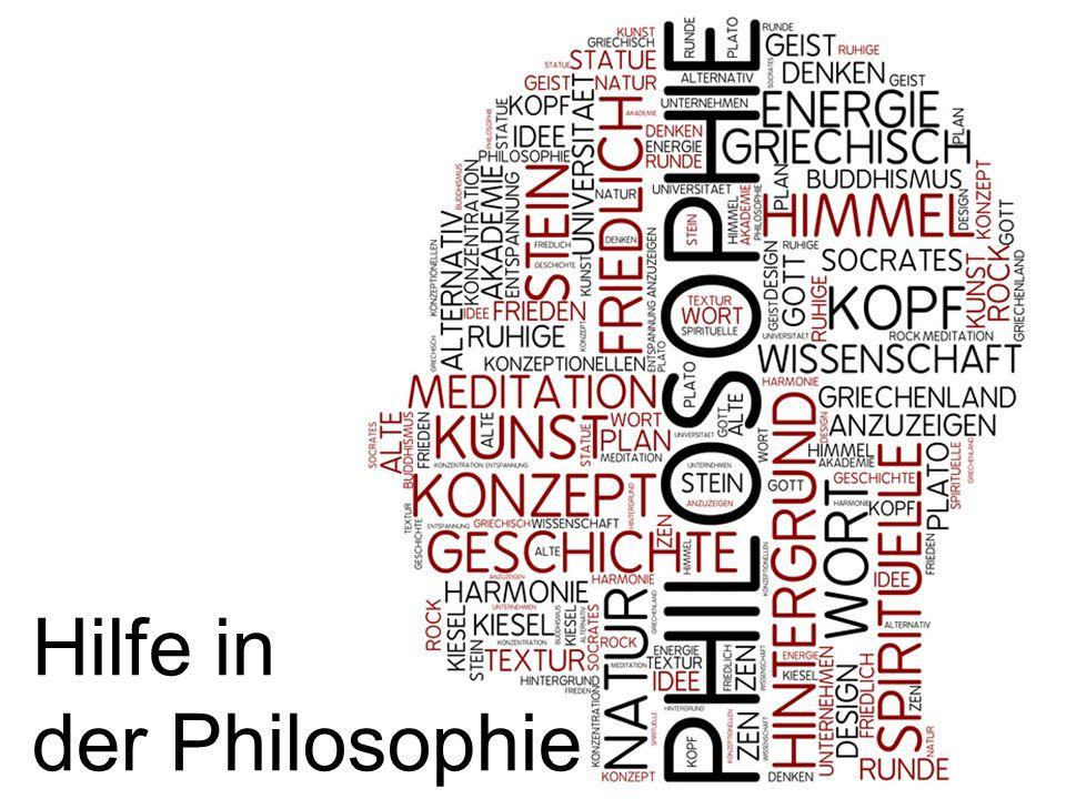 Hilfe in der Philosophie