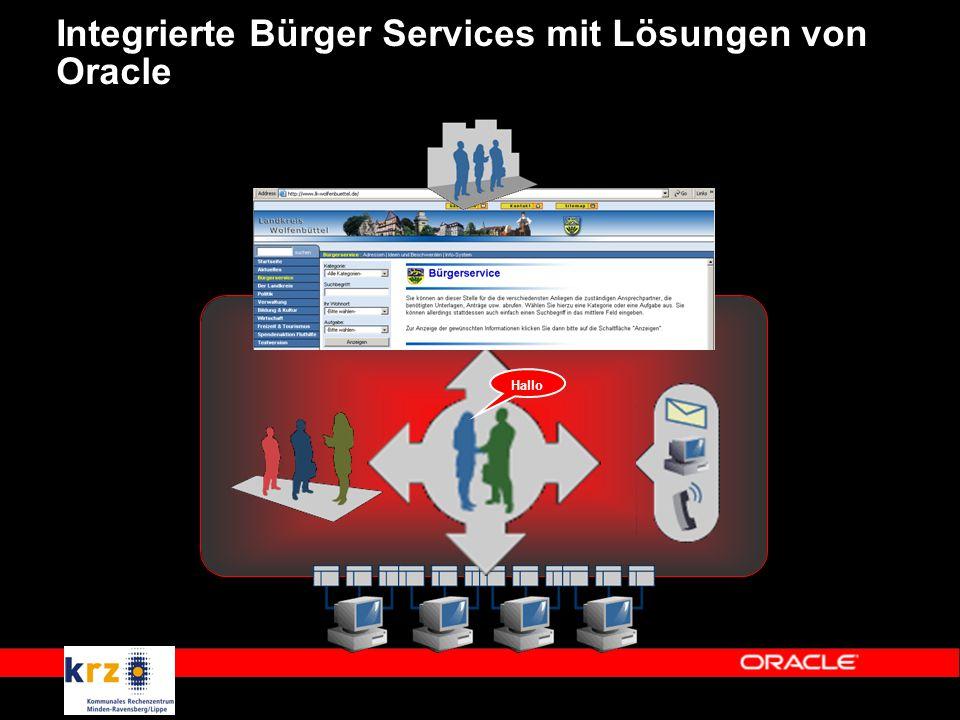 Integrierte Bürger Services mit Lösungen von Oracle Hallo