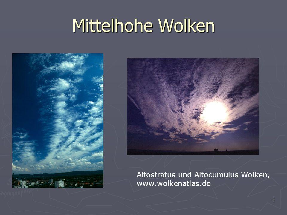 4 Mittelhohe Wolken Altostratus und Altocumulus Wolken, www.wolkenatlas.de
