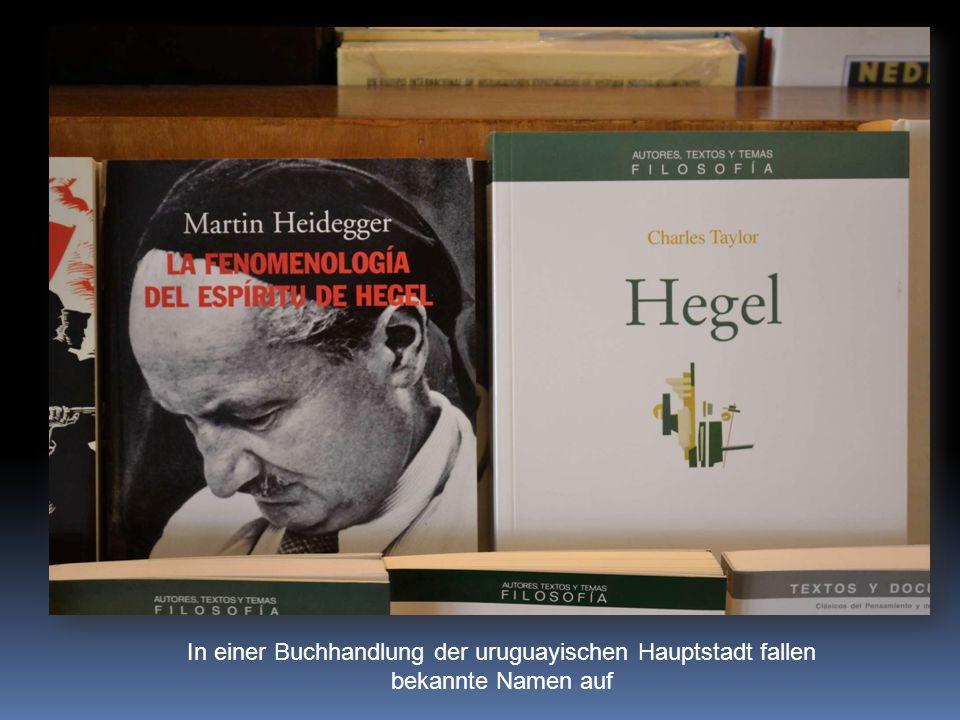 In einer Buchhandlung der uruguayischen Hauptstadt fallen bekannte Namen auf