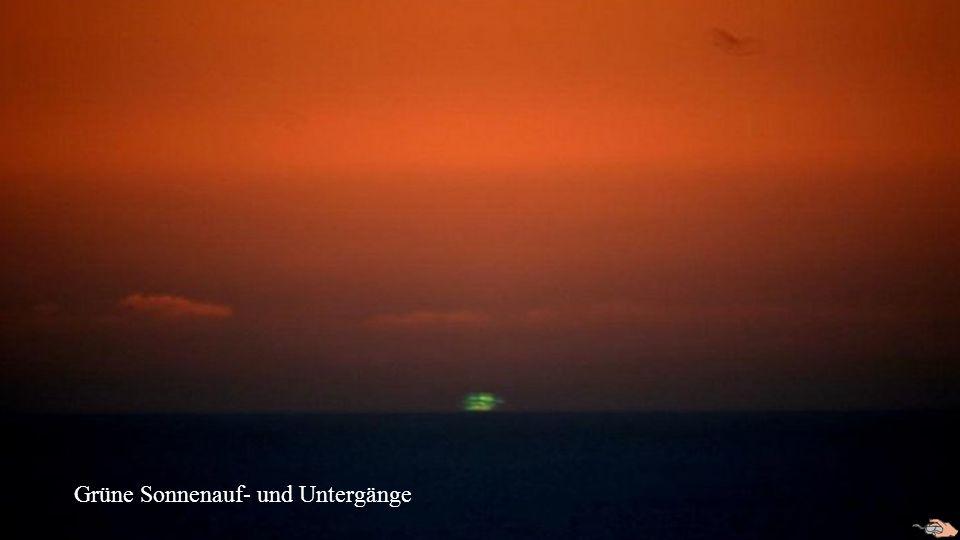 Grüne Sonnenauf- und Untergänge