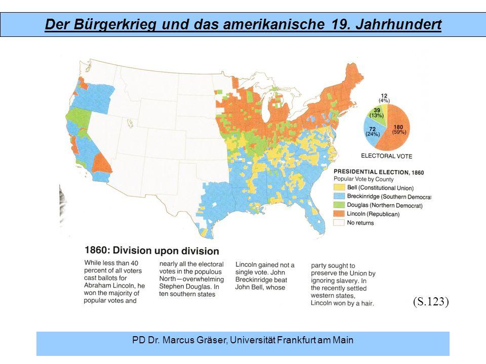 Der Bürgerkrieg und das amerikanische 19. Jahrhundert PD Dr. Marcus Gräser, Universität Frankfurt am Main (S.123)