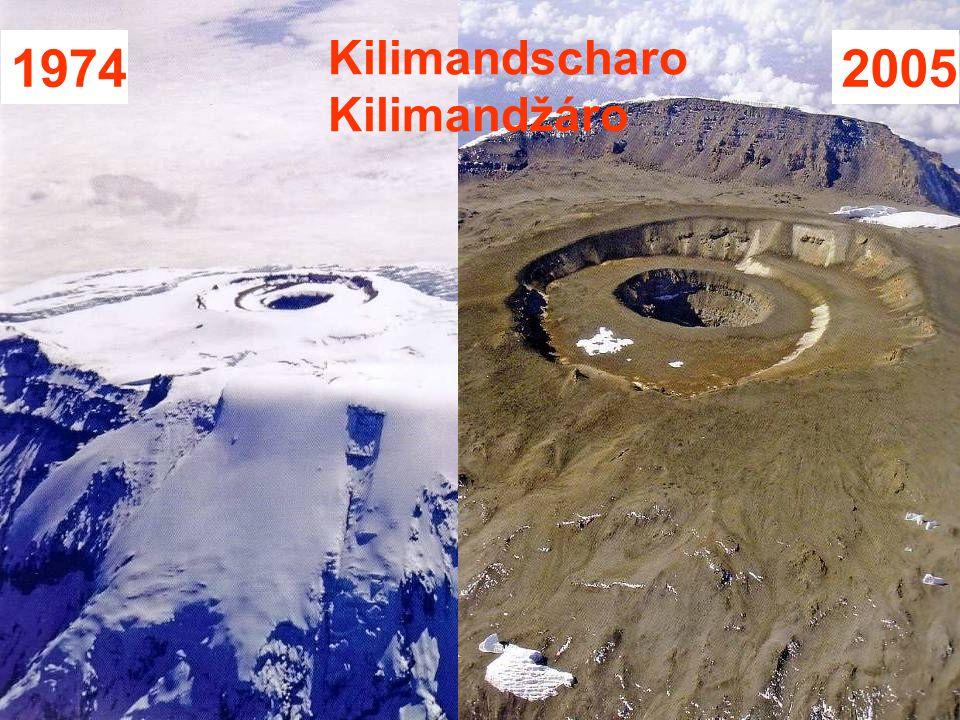 Auswirkungen des Klimawandels Následky klimaticých zmien Obsah CO2 v atmosfére je vyšší ako prirodzená odchýlka posledných 400.000 rokov Od počiatku systematického merania teplôt došlo k otepleniu o 0,8°C Ustupuje aj snehová pokrývka aj ľadovce Ľadovce v Grónsku a na Antarktíde sa topia V 20 stor.