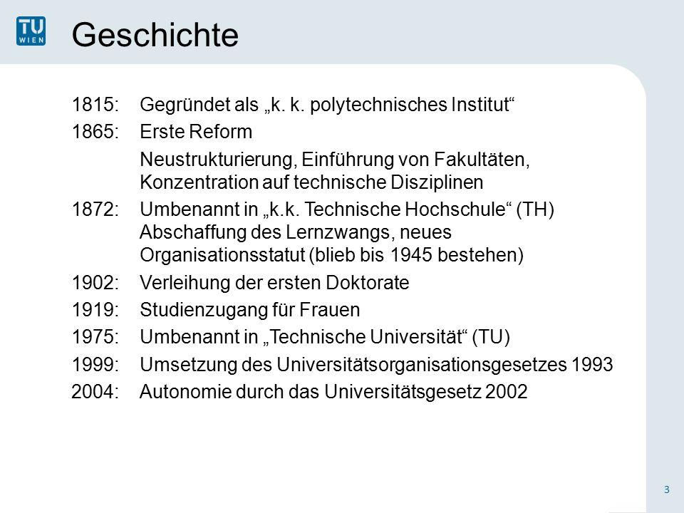 """Geschichte 1815:Gegründet als """"k. k."""