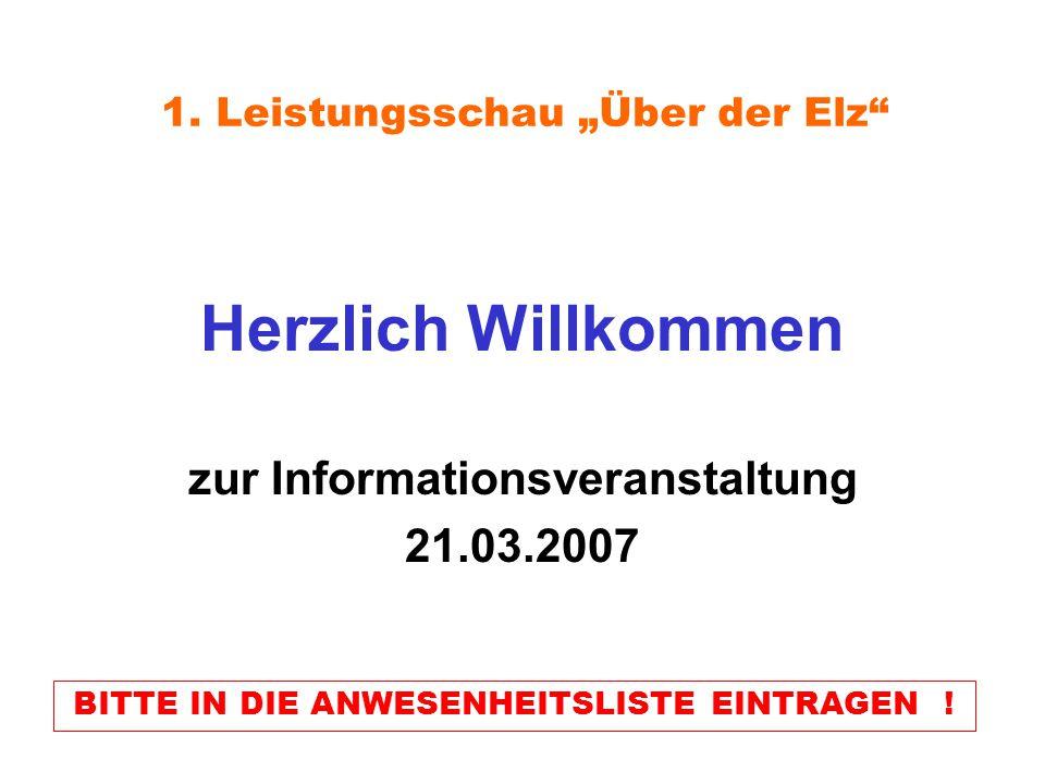 """Organisations- TEAM 1. Leistungsschau """"Über der Elz ORGA"""