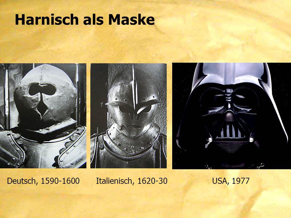 Harnisch als Maske Deutsch, 1590-1600Italienisch, 1620-30 USA, 1977