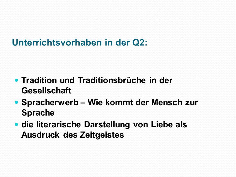 Unterrichtsvorhaben im LK Q1 1.Sprachliche Vielfalt im 21.