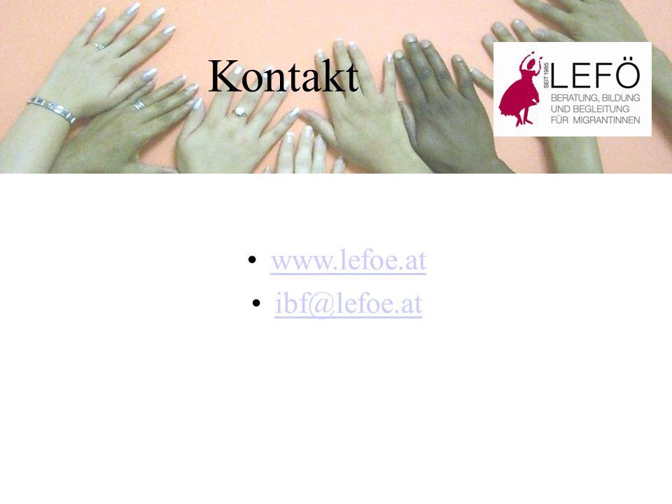 Kontakt www.lefoe.at ibf@lefoe.at