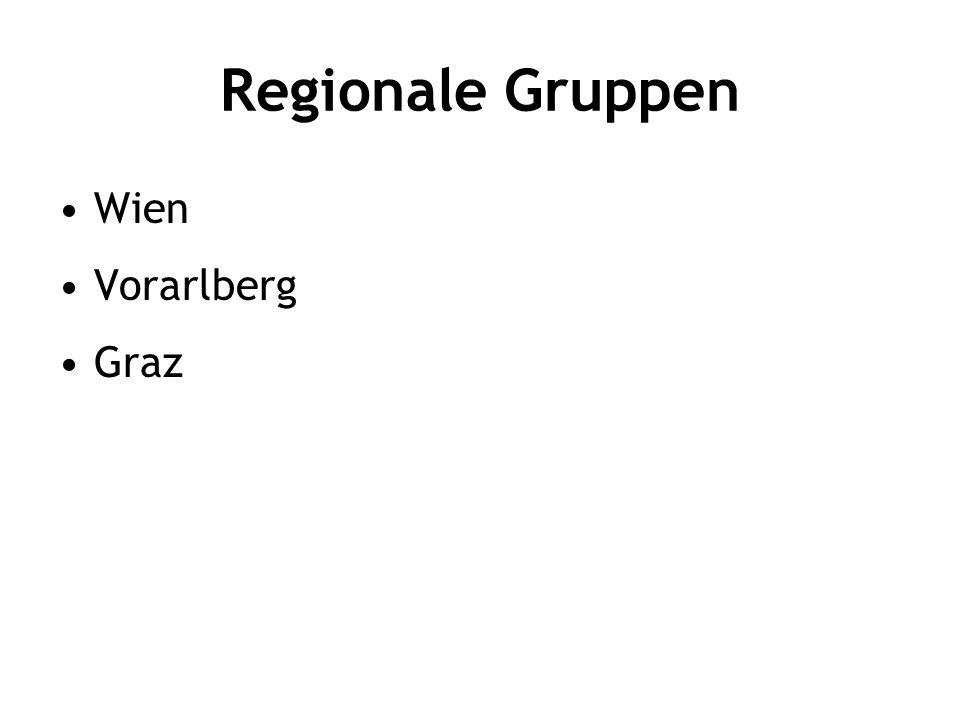 Regionale Gruppen Wien Vorarlberg Graz