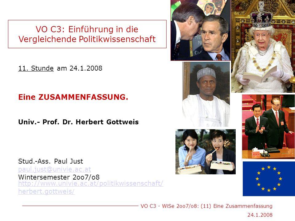 VO C3 - WiSe 2oo7/o8: (11) Eine Zusammenfassung 24.1.2008 11.