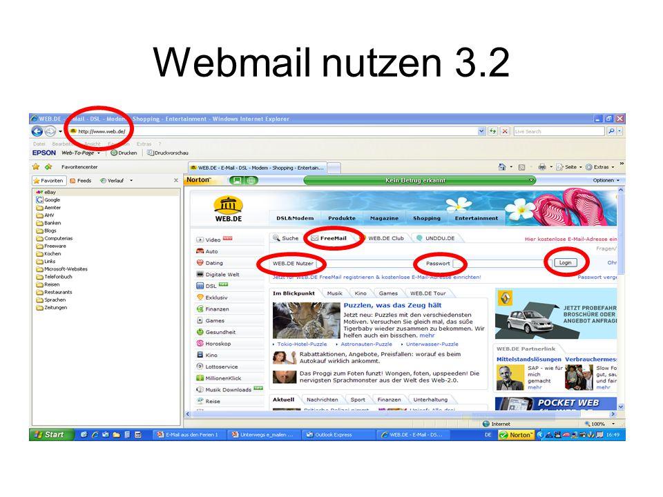 Webmail nutzen 3.2