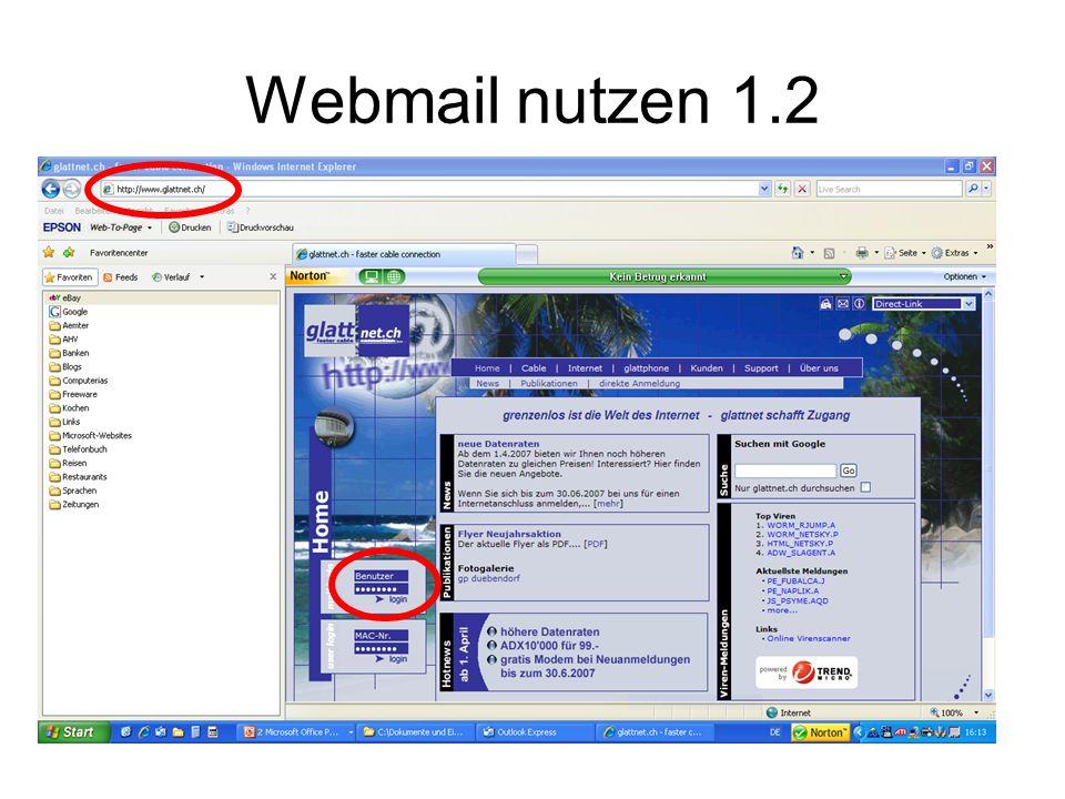 Webmail nutzen 1.2