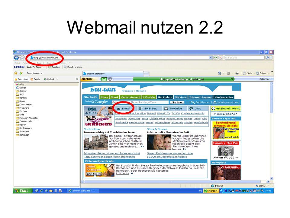 Webmail nutzen 2.2