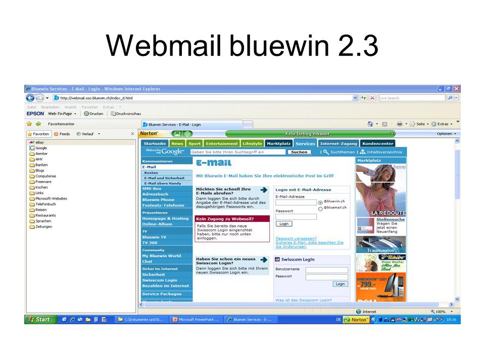 Webmail bluewin 2.3