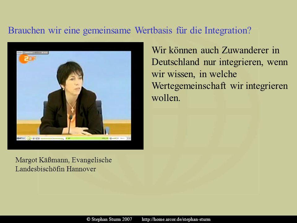 Brauchen wir eine gemeinsame Wertbasis für die Integration? Wir können auch Zuwanderer in Deutschland nur integrieren, wenn wir wissen, in welche Wert