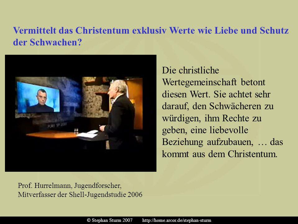 4.) Das Christentum ist nicht nur die historische Wurzel für die Werte unserer Gesellschaft, es bleibt auch das materiale Fundament, aus dem sich die Geltung dieser Werte ableitet.