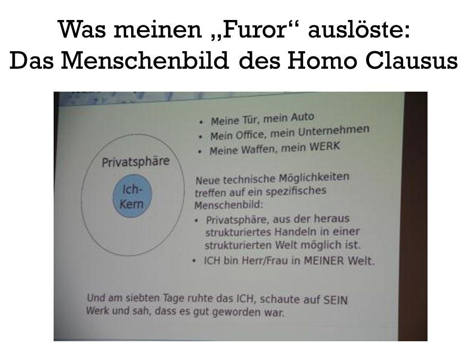 """Was meinen """"Furor"""" auslöste: Das Menschenbild des Homo Clausus"""