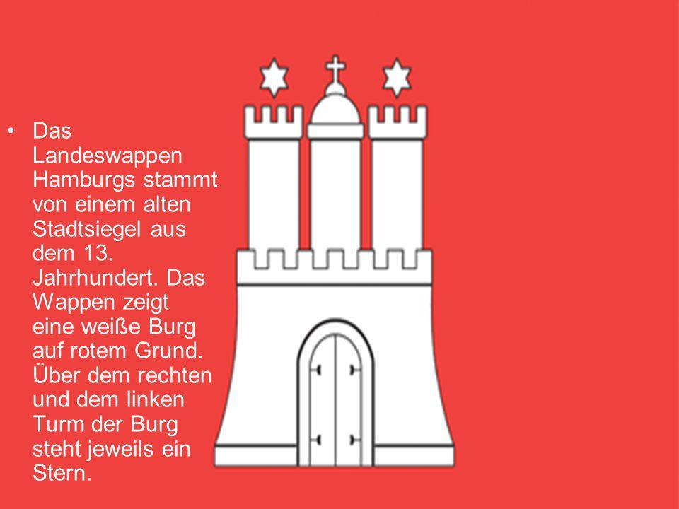 Das Landeswappen Hamburgs stammt von einem alten Stadtsiegel aus dem 13.