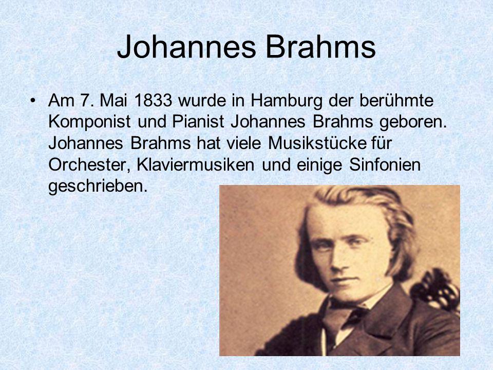 Johannes Brahms Am 7.