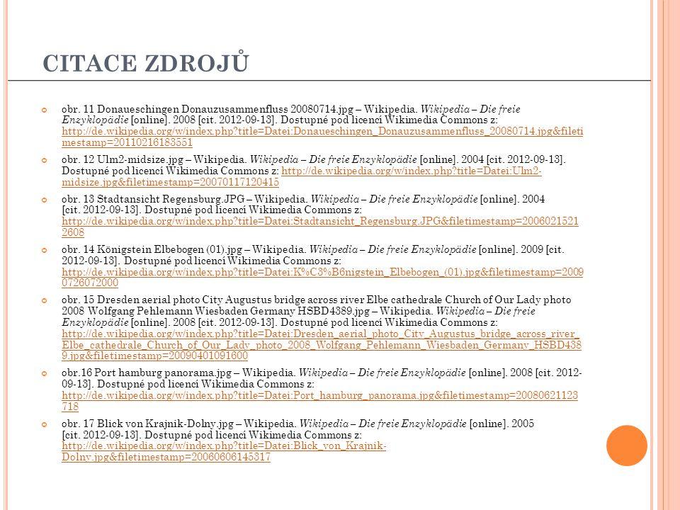obr. 11 Donaueschingen Donauzusammenfluss 20080714.jpg – Wikipedia. Wikipedia – Die freie Enzyklopädie [online]. 2008 [cit. 2012-09-13]. Dostupné pod