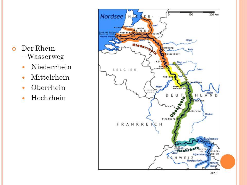 Der Rhein – Wasserweg Niederrhein Mittelrhein Oberrhein Hochrhein obr. 1