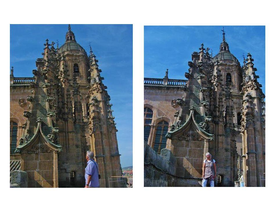 Spektakulärer Blick vom 110 m hohen mittelalterlichem Turm der Kathedrale auf die Universität …
