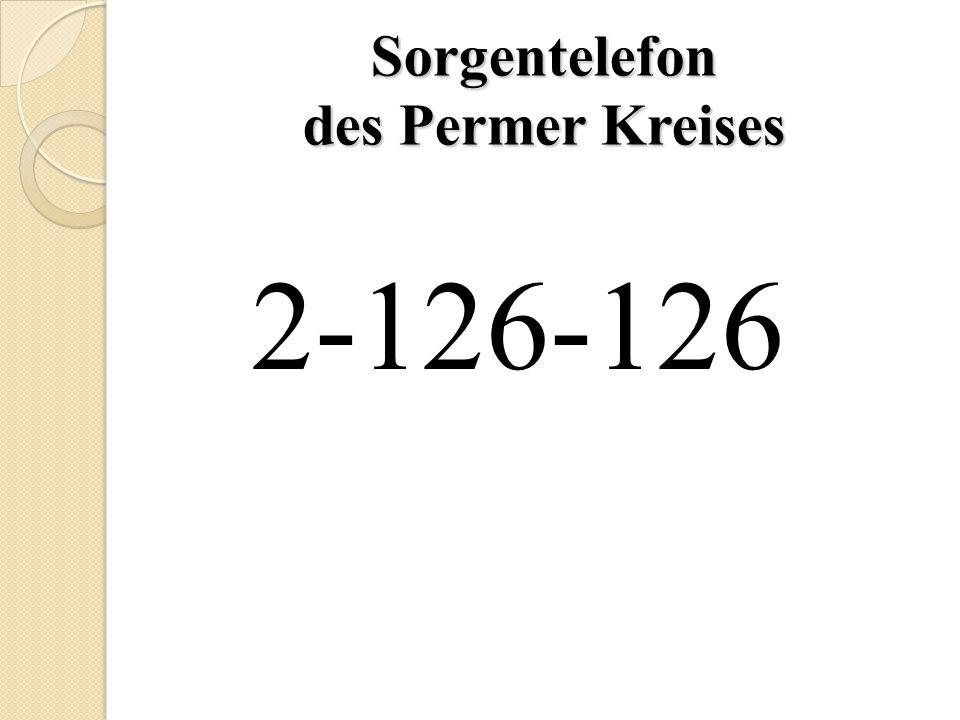 Sorgentelefon des Permer Kreises 2-126-126