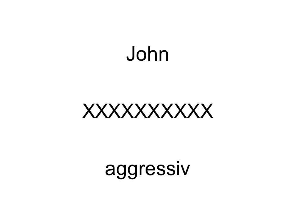 John XXXXXXXXXX aggressiv